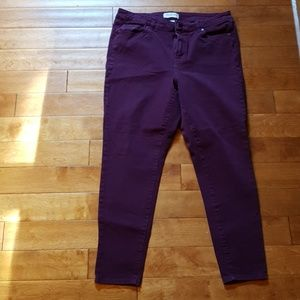 Lane Bryant Purple Ankle Skinny Jeans size 14